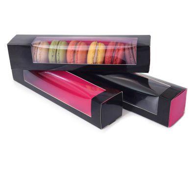 Macarondoos zwart/roze set/3, fig. 1