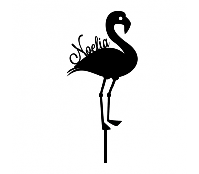 Taarttopper - Flamingo + naam, fig. 1