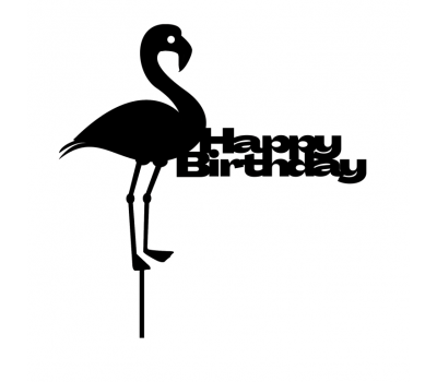 Taarttopper - Flamingo + Happy Birthday, fig. 2