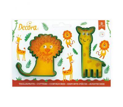 Giraf & leeuw uitsteker set/2 - Decora, fig. 1