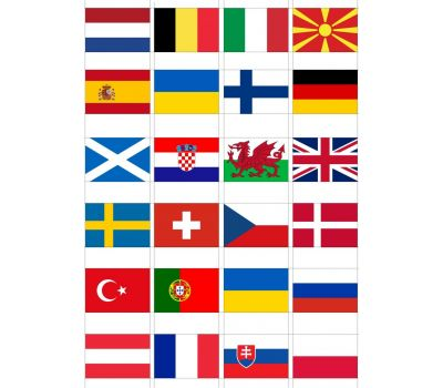 Eetbare print - EK 2021 vlaggen, fig. 2