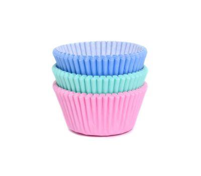 Pastel roze/mintgroen/blauw - Baking cups (75 st), fig. 2