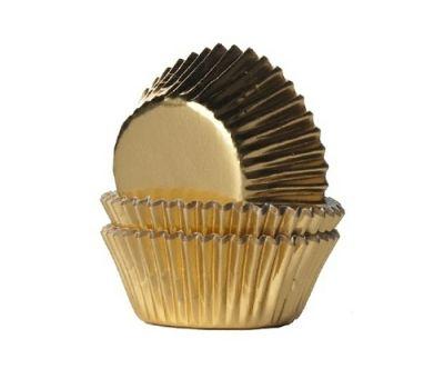 Metallic goud mini - baking cups (45 st), fig. 1
