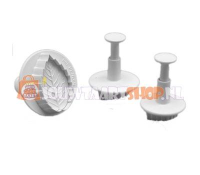 Rozenblad plunger uitsteker set/3 - PME, fig. 2
