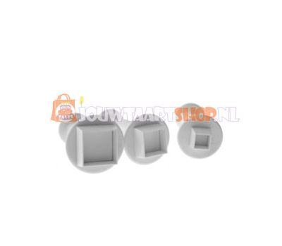 Mini vierkante plunger uitsteker set/3 - PME, fig. 1