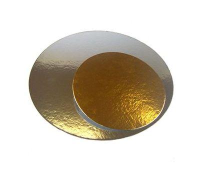 Taartkarton goud/zilver rond 16 cm 3 st, fig. 1