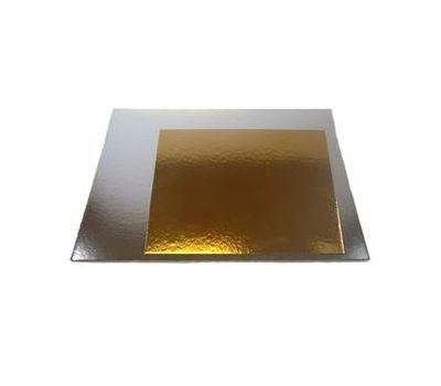 Taartkarton goud/zilver vierkant 20 cm 3 st, fig. 1