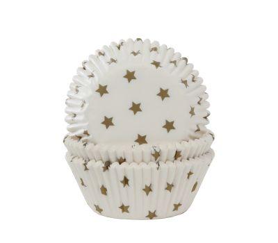 Gouden sterretjes - baking cups (50 stuks), fig. 1