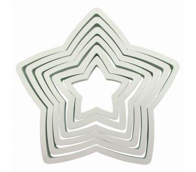 Kunststof uitstekers ster set/6 - PME, fig. 1