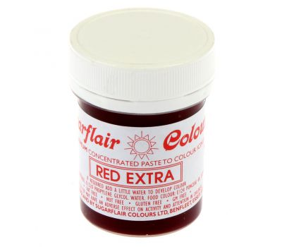 Kleurpasta extra rood (red extra) 42 gr - Sugarflair, fig. 1