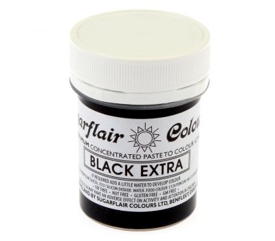 Max Concentrate Paste Colour Black Extra 42 gr - Sugarflair, fig. 1
