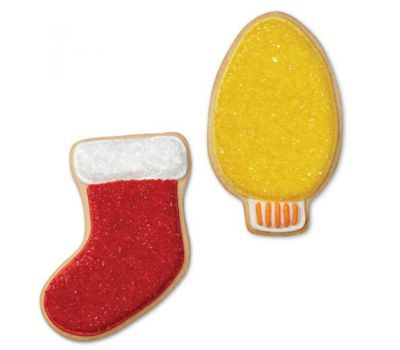 Kerstkoekjes Uitsteker Metaal Kerstsok/Krans/Lampje Set/3, fig. 2