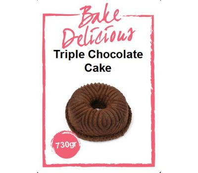 Mix voor Triple chocolate cake 730 gr - Bake Delicious, fig. 1