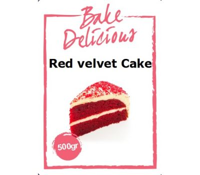 Mix voor Red velvet cake 500 gr - Bake Delicious, fig. 1