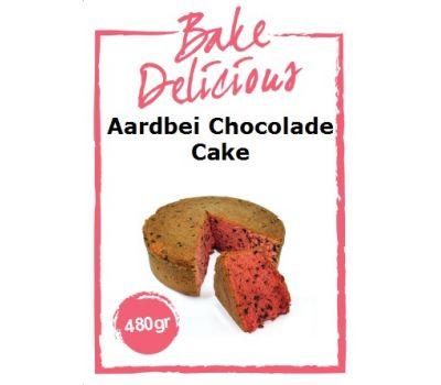 Mix voor Aardbei chocolade cake 480 gr - Bake Delicious, fig. 1