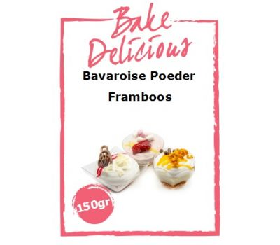 Bavaroise poeder Framboos 150 gr - Bake Delicious, fig. 1
