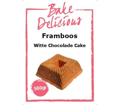 Mix voor Framboos witte chocolade cake 580 gr - Bake Delicious, fig. 1