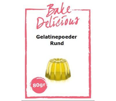 Gelatinepoeder Rund 80 gr - Bake Delicious, fig. 1