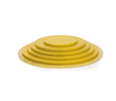 Cake drum 10 mm rond 22 cm goud, fig. 1