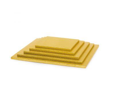 Cake drum 10 mm vierkant 20 cm goud, fig. 1