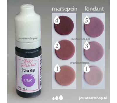 Kleurgel lila (lilac) - Bake Delicious, fig. 1
