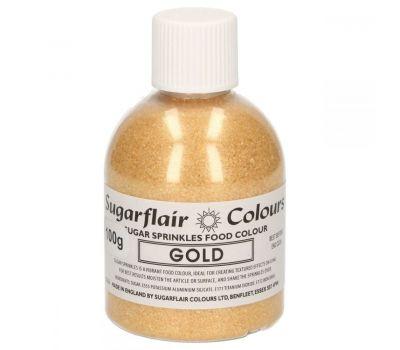 Sugar sprinkles goud - 100 gr, fig. 1