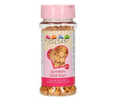 Suikersterretjes goud 60 gr - Funcakes, fig. 1