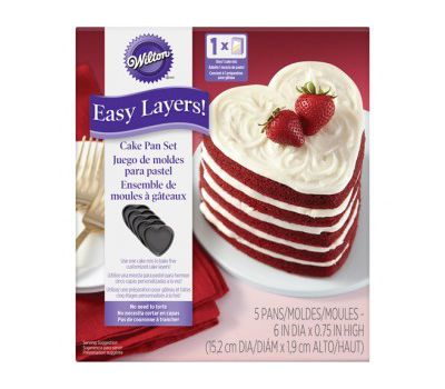 Wilton Easy Layers bakpannen hart 15 cm set/5 - Wilton, fig. 1