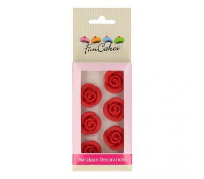 Marsepein decoratie - Roosjes rood 6 st., fig. 2