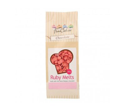 Chocolade Melts Ruby 250 gr - FunCakes, fig. 1