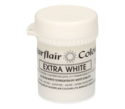 Kleurpasta extra wit (white extra) 42 gr - Sugarflair, fig. 1