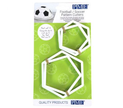 Voetbal vlakken uitsteker set groot en klein - PME, fig. 2