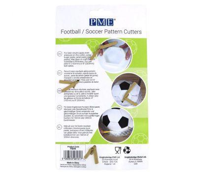 Voetbal vlakken uitsteker set groot en klein - PME, fig. 3