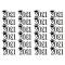 """24x """"Geslaagd 2021"""" op Frosty sheet, fig. 1"""