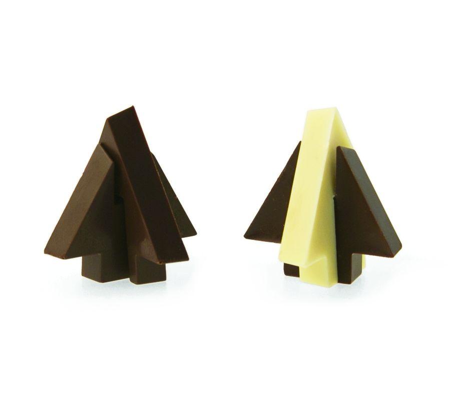 Decoraties Polycarbonaat Chocolade Mold Kerstboom 3d Decora